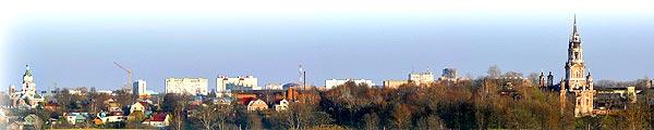 Панорамный вид города Можайска  с западной стороны